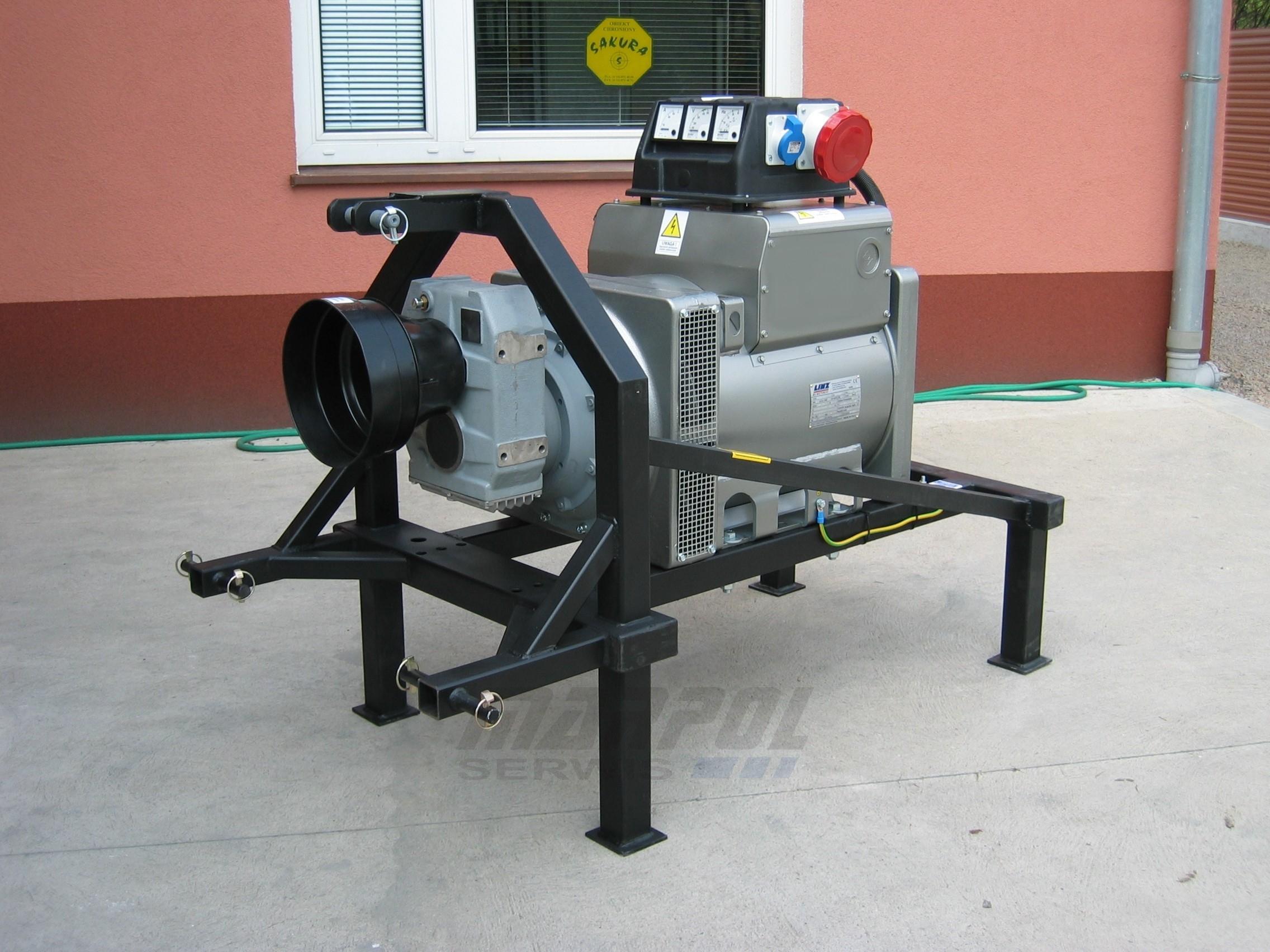 Rewelacyjny Agregat Ciągnikowy 60 kVA AVR WOM Prądnica LINZ electric Sumera Motor SH42